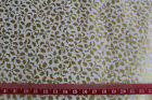 Gold Holly Leaf Christmas Xmas Fabric material 100% cotton Patchwork crafting