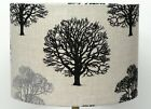 Black and Grey  linen Trees Lampshade, Ceiling Pendant, Table Lamp