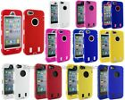 Heavy Impact Hybrid Hard Case Rubber Silicone Cover For Apple iPhone 5 5G 5th