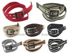 BONAMART Men Women Braided Canvas Fabric Web Belt  Alloy Metal Buckle 110CM