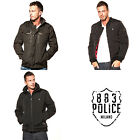 Mens 883 Police Zip Thru Field Bomber Designer Casual Jacket Coat