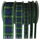 Gordon Tartan Ribbon - various widths, cut lengths and 25m reels