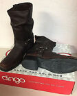 NEW Mens Dingo Leather Boots DI 19051 Motorcycle Biker Boots Brown with Harness
