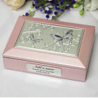 21st Birthday Pink Butterfly Jewel Box - Add a Name & Message