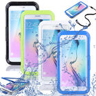 Clear Waterproof Swimming Hard Phone Cover Case For Samsung Galaxy S6 edge Plus