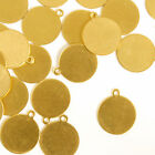"""Tag, Circle, w/ Ring, 1/2""""- Stamping Blank, 24 pc- Jewelry Craft Making Discs"""