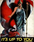 WWII ITS UP TO YOU WAR PROPOGANDA POSTER ART PRINT