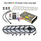5050 RGB Dream Color 6803 LED Strip +IC 6803 RF Remote Controll +Power adapter