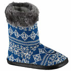 Indianapolis Colts Woman's Faux Fur Aztec Slipper Boots Shoes Embroidered Logo