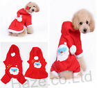 Puppies Pet Dog Plush Fabric Sweater Skirt Four Leg Pant with Santa Claus