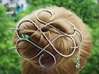 Large Hair Clip Gold Hairpin Bun Holder Hair Barrette Fork Accessory wife Gift