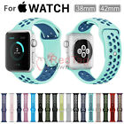 Replacement Silicone Sports Bracelet Band Strap For Apple Watch Nike+ Series 2/1