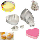 "Heart Shape Baking Tin Pan Sugarcraft Bakeware Fondant Cake Mould Tray 3~11"" #R"