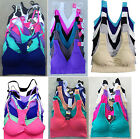 Lot Spaghetti Strap Yoga Gym Cropped Tank Top Padded Seamless Sports Bra S/M/L