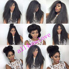 8A Italy Yaki  Straight full/front lace wig remy human hair natural look wigs