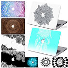 "Mandala Print Rubberized CUT-OUT Hard Case Cover For Macbook Air 11""12""Pro 13""15"