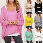 2016 Women T shirt Loose Batwing Sleeve Pullover Casual  Blouse Shirt Tops