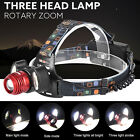 15000LM 3x XML T6 USB Rechargeable Headlamp HeadLight Torch Lamp  18650  Charger