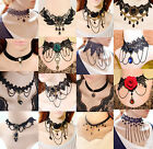 Women Fashion Jewelry Pendant Choker Chunky Statement Chain Bib Lace Necklace