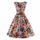 Fashion Women Ladies Vintage Floral Printed Swing Retro Cocktail Housewife Dress