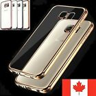 Electroplate Clear TPU Luxury Thin Cover For Samsung Galaxy S7 / Edge S6 S5 Case