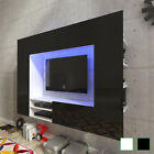 High gloss led tv wall entertainment unit display cabinet room white/black