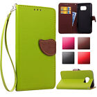 Fashion Leaf Flip Leather Stand Wallet Shockproof Case Cover For Samsung Galaxy