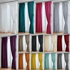 Faux Silk Curtains Luxury Fully Lined - Pencil Pleat Tape Top - Free Tiebacks