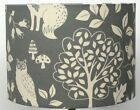 Skandi Grey Woodland Creatures  Ceiling, Table Lamp Shade