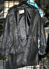 VINTAGE W.B. PLACE & CO WOMEN'S BELTED BLACK LEATHER COAT, SIZE SMALL