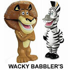 BNIB World of Madagascar 3 Movie Exclusive Wacky Babbler Alex or Marty by Mattel