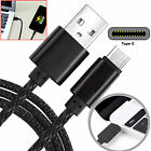 1m 1.5m 2m 3m Heavy Duty Strong Braided USB 3.1 Type C Data Sync Charging Cable