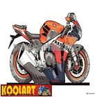 Koolart Cartoon HRC Honda CBR 1000 RR Fireblade Repsol - Mens Gifts (3072)
