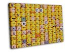 Heads Faces Emotions Lego Texture Print CANVAS Toile