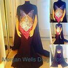 DRAG QUEEN MORGAN WELLS BLACK AND MULTI COLORED LONG SLEEVE SPARKLE DRESS!