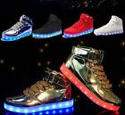 Unisex USB LED Lights Luminous Shoes Sportswear kids Lace Up Casual Sneakers