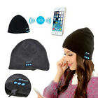 Bluetooth Warm Beanie Hat Smart Soft Music with Built in Wireless Headphones Cap