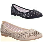 13273 Womens Miscellaneous Sandals Flat Sole Round Toe Ballarina Ladies Pump