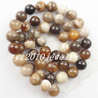 6/8/10mm Interesting American Wood Opalite Round Ball loose bead 15.5inch x11144
