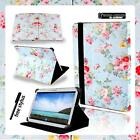 Folio Stand Leather Cover Case For Various Samsung Galaxy Tab A Tablet + STYLUS