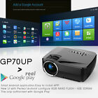 GP70UP HD 1920x1080P Projector Home Cinema WIFI Wireless Bluetooth Android 4.4