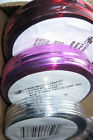 "HOLIDAY DIY WIRES Plastic coated steel Wrap WIRE 1/4"" Beaded 2 sizes MANY COLORS"