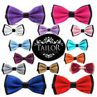 Brand New Mens Pre tied Double Colour Bowtie Bow Tie Set Party Gift Tux