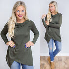 Winter Women Long Sleeve Turtleneck Solid Cotton Stretch T-Shirt Bottoming Tops