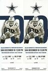 Dallas Cowboys vs Tampa Bay Buccaneers (2) Tickets 12 18 16 Lower Level!