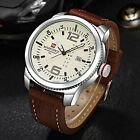 Luxury Men Quartz Watch Fashion Sports Leather Date Waterproof Wrist Watches