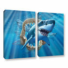 Great White Shark' Gallery wrapped Canvas Art Print