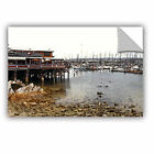 'Old Fisherman's Wharf - California' Removable Wall Art Mural