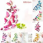 New 12pcs 3D Butterfly Design Decal Art Wall Stickers Room Decorations Home Deco