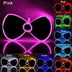 Fashion Luminous Light Up EL Wire Bow Tie Halloween Party Rave Decoration